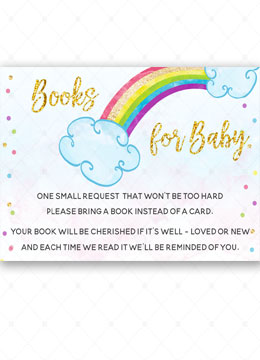 Rainbow Book for baby Cards Baby Shower