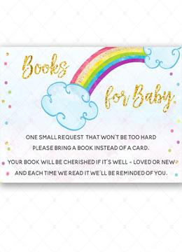 Rainbow Baby Card  Babyshower card
