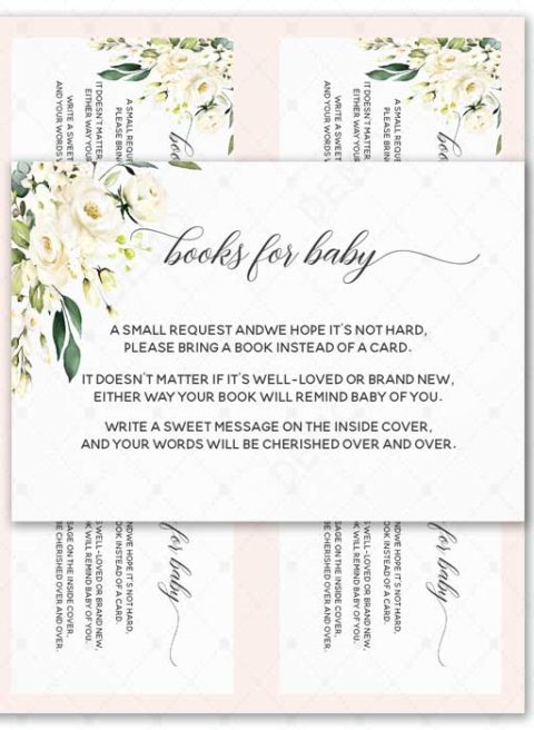 Floral Books For Baby Printable