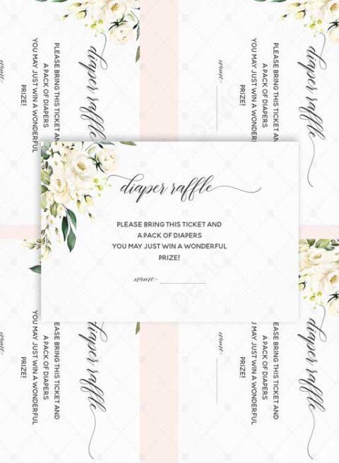 Floral Diaper Raffle Printable