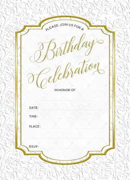 Blank Birthday Invitations for adults