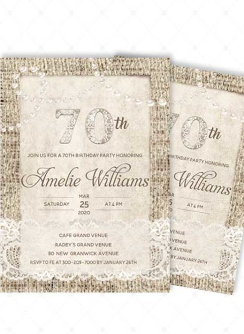 Invitations for a 70th Birthday Party