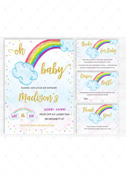 Rainbow Decorations for Baby Shower