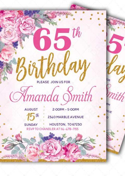 60 Birthday Party Invitation Templates