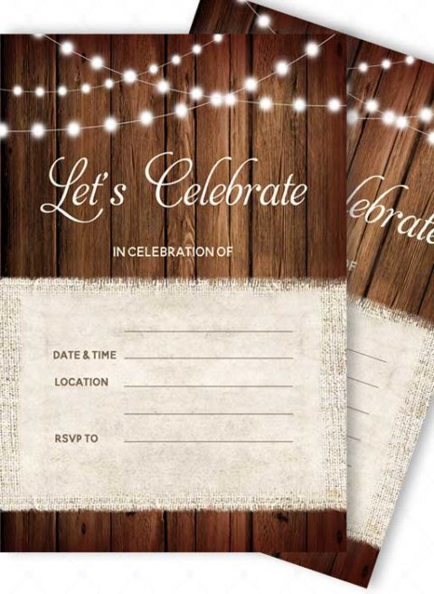 Blank Invitations and Rsvp Cards