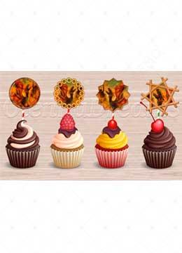 Printable Dragon Cupcake