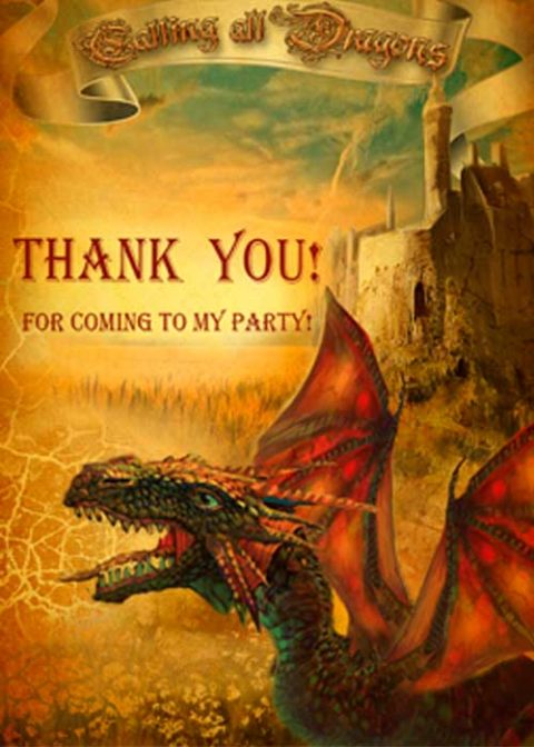 Dragon Thank You Cards