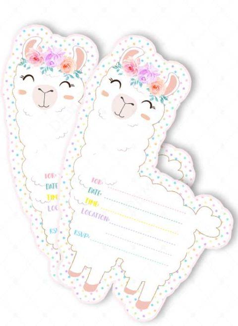 Fill in llama Baby Shower Invitations