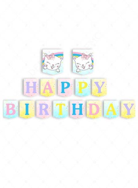 Kitty Cat Birthday Banner