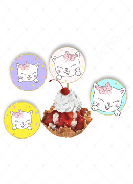 Kitty Cupcake Toppers