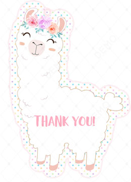 Llama Baby Shower Thank You Cards