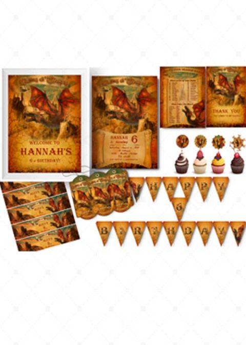 Printable Dragon Party Supplies