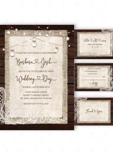 Rustic Chic Wedding Invitation Ideas