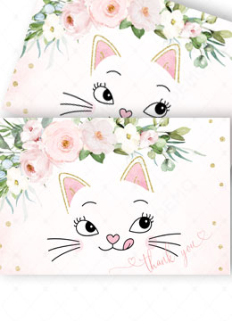 Thank You Cards Kitty