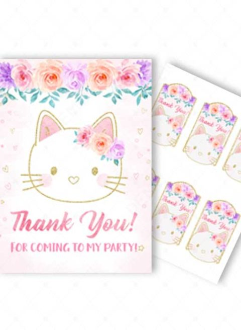 Kitty Thank You Card