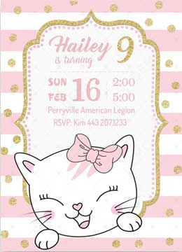 Kitty Party Invitations Template