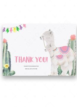 llama Mama Thank You Baby Shower