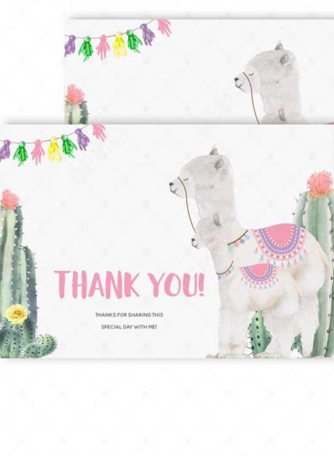 llama Mama Thank You Baby Shower