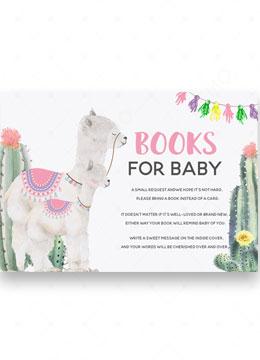 llama Mama books for baby shower