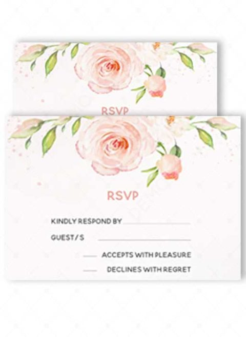 Template for RSVP card