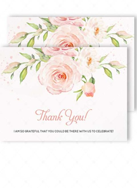 Template for Thank You card