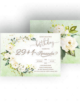 30th Birthday Invitation Card Template