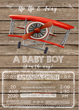 Baby Shower Invitations Airplanes
