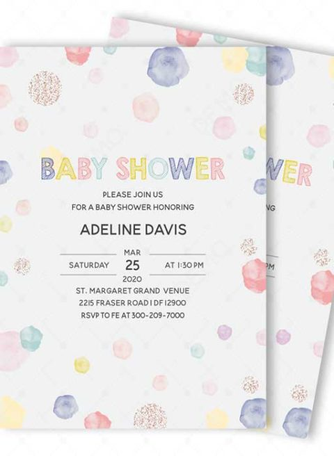 Baby Shower Invitations Polka Dot