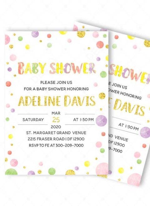 Baby Shower Invitations Polka Dot Designs