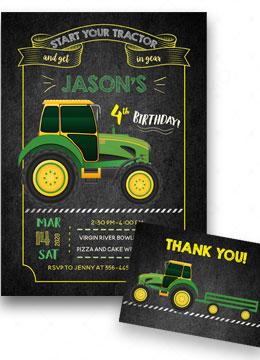 Tractor Birthday Invitations Printable
