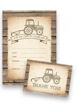 Tractor Invitations Birthday