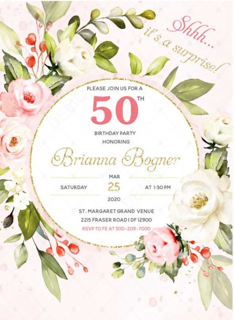 50th Surprise Party Invitation