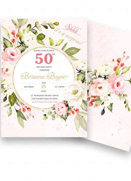 50th Surprise Party Invitation