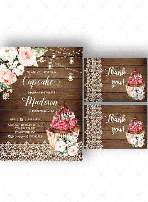Cupcake Party Invitations Printable
