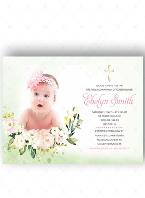 First Communion Invitations With Photo