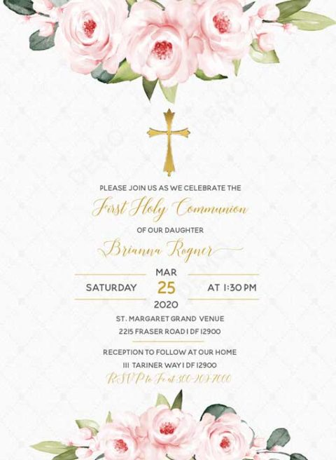 Invitation Cards First Holy Communion
