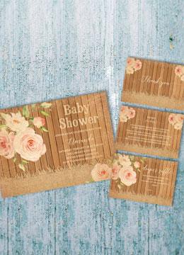 Vintage Floral Baby Shower Invitations