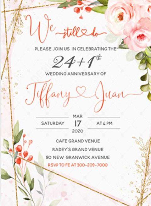 25 year Anniversary Invitations