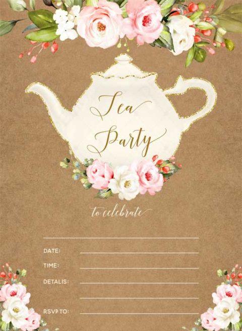 Blank Tea Party