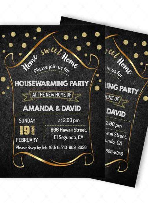 Housewarming Invitation Card Sample
