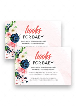 Baby Shower Invitations books instead of card