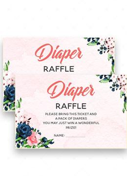 Diaper Raffle Invitation Inserts
