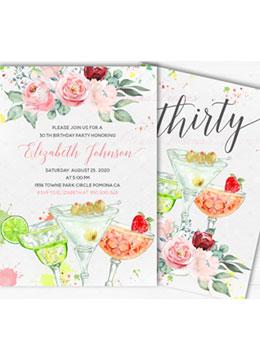 30th Birthday Invitation Templates