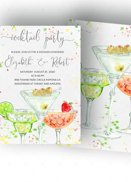 Cocktail Shower Invitations