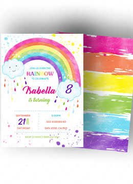 Rainbow Invitations Templates