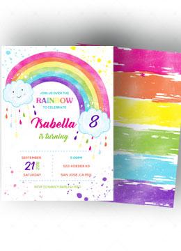 Rainbow Invitations Templates