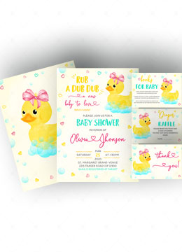 Printable Rubber Duck Baby Shower Invitations