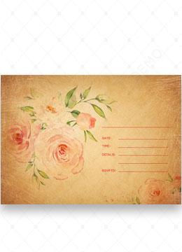 Vintage Floral Blank invitation template