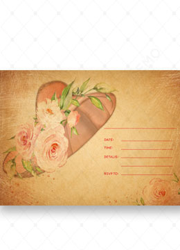 Vintage Floral Blank invitation