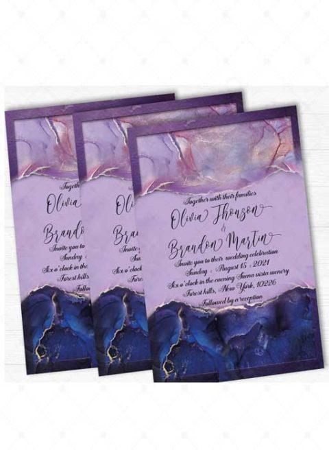 Purple and Royal Blue wedding decor